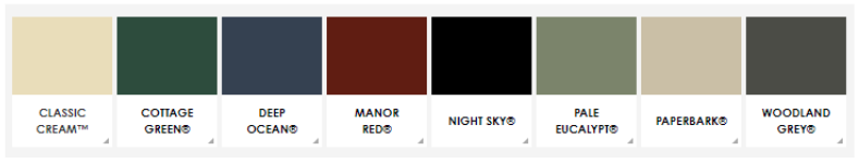 colorbond colours