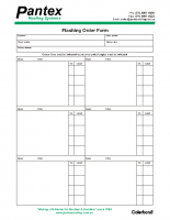 FLASHING ORDER FORM
